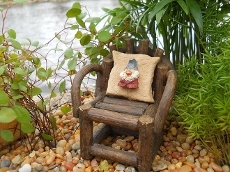 Gnome Pillow for Fairy Garden Chair