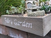 Vintage Fairy Garden Box (Click Options To Choose Size)