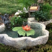 Pond Planter with Working Pump