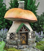 Mushroom Cottage for Fairy Garden