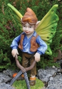 "Wesley the Fairy Gardener for Fairy Garden (Taller 4.75"")"