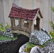 Rickety Covered Bridge for your Fairy Garden