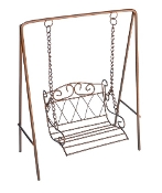 Copper Porch Swing for Fairy Garden