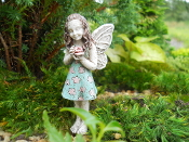 Clementine, Fairy With Rose For Miniature Fairy Gardens