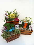 Wooden Planter For Miniature Fairy Gardens