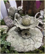 Bubbling Fountain With Fairy For Miniature Gardens