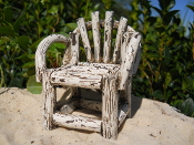 Cream Rustic Chair for Miniature Fairy Gardens