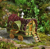 Gypsy Wagon House For Miniature Fairy Gardens