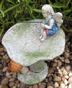 Fairy Birdbath With Mushroom For Miniature Fairy Gardens