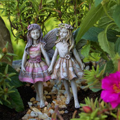 Faith and Hope Fairies For Miniature Fairy Gardens