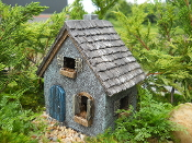 "6.25"" Primitive Cottage For Miniature Fairy Gardens"