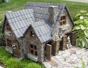 "8.5"" Yorkshire House For Miniature Fairy Gardens"
