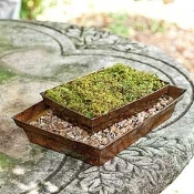 Large Copper Garden Tray Planter For Miniature Fairy Gardens