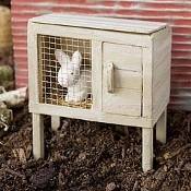 Rabbit Hutch For Miniature Fairy Gardens