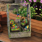 6 Pc Color Furniture Set for Miniature Fairy Gardens - EXCLUSIVE
