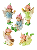 Set of 5 Petal Fairies for Miniature Fairy Gardens - EXCLUSIVE