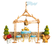 Tea Garden Set with Gazebo for Fairy Gardens - EXCLUSIVE
