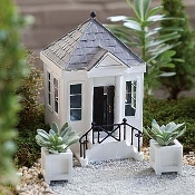 Greek Revival Home (or Mausoleum) for Miniature Fairy Gardens
