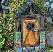 English Cottage Fairy Door for Miniature Fairy Gardens