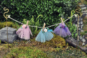 Fairy Clothesline and TuTus For Miniature Fairy Gardens