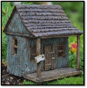 Fairy Wharf/Cabin with Swinging Door for Miniature Fairy Gardens