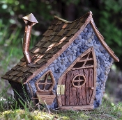 Shingleton Large Crooked Fairy House for Miniature Gardens