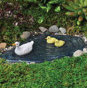 """Waterless"" Duck Pond For Miniature Fairy Gardens"