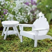 White Adirondack Chair (Chair Only) For Miniature Fairy Gardens