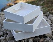 Whitewashed Wood Fairy Garden Box (Click Options To Choose Size)