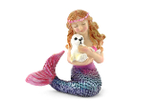 Mermaid with Snow Seal For Miniature Fairy Gardens