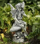 "17"" Tall Fairy on Mushroom for Miniature Garden Statement Pieces"
