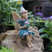 Morgan the Party Fairy for Miniature Fairy Gardens