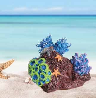 Small Coral Reef with Sea Turtle for Miniature Fairy Gardening