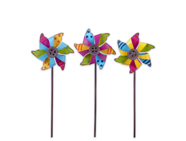 Colorful Pinwheels For Miniature Fairy Gardens