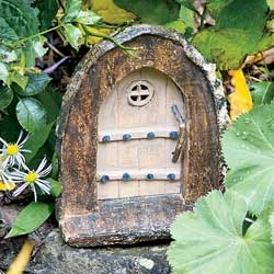 Rustic Briars Arch Door for Miniature Fairy Gardens