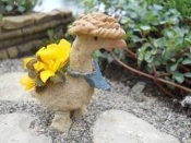 Goose Planter with Pick for Fairy Garden