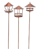 Copper Birdfeeders (Set of Three) For Fairy Garden