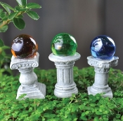 "Micro Gazing Balls (Set of Three) For Fairy Garden- 1.5"" Tall"