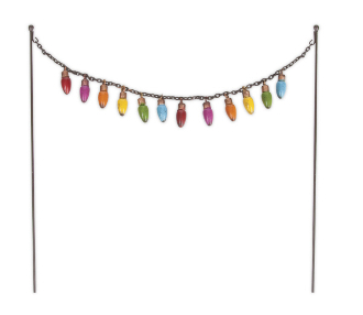 String of Christmas Lights for Fairy Garden