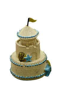 Sale - Sandcastle For Miniature Fairy Gardens