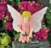 Sharon, The Glittered Gardening Fairy for Miniature Gardens