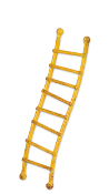 Sale - Yellow Ladder For Miniature Fairy Gardens