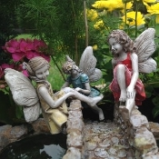 Climbing Fairies - Set of Three - For Miniature Fairy Gardens