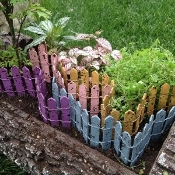 "12"" Long Picket Fence Section - Choose Color From Options"