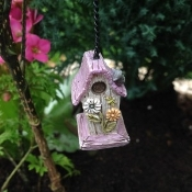 Daisy Hanging Birdhouse for Miniature Fairy Gardens