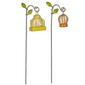 Sale - Set of 2/Birdcage on Hook for Miniature Fairy Gardens