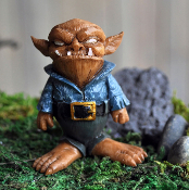 Bob, the Grumpy Troll for Miniature Fairy Gardens