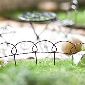 "60"" Long Wrought Wire Garden Edging for Miniature Fairy Gardens"