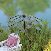Leaf Metal Umbrella for Miniature Fairy Gardens