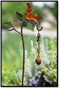 Squirrel Bell Windchime for Miniature Fairy Gardens